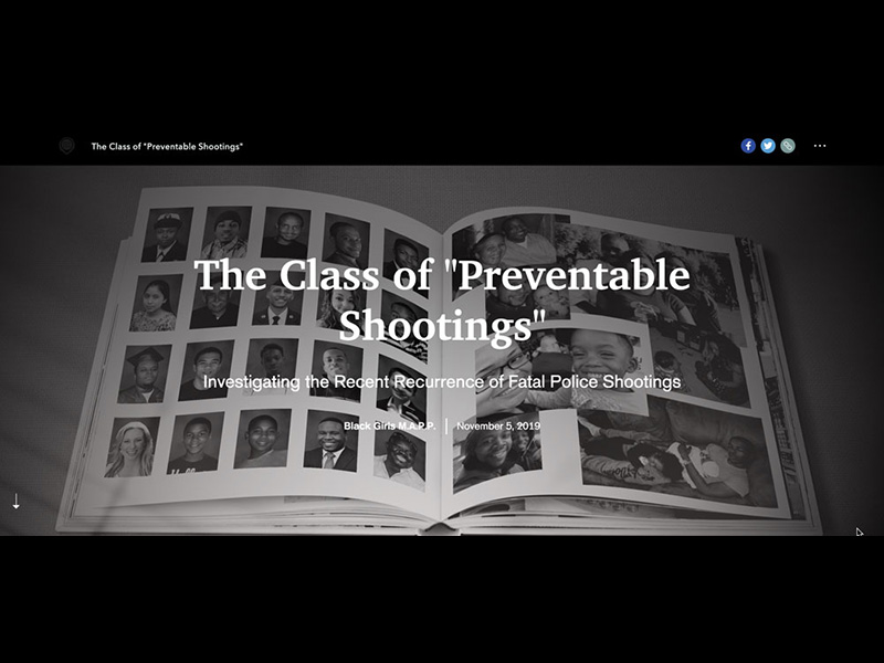 The Class of Preventable Shootings Title