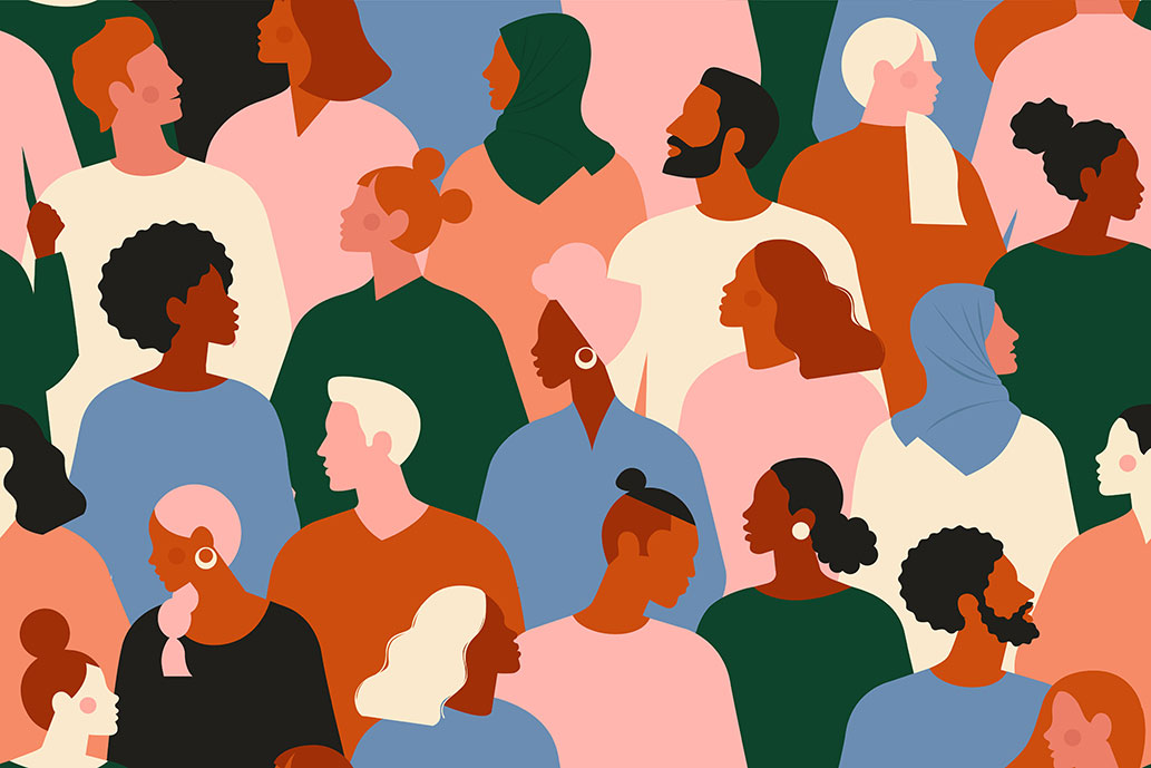 colorful illustration of diverse people