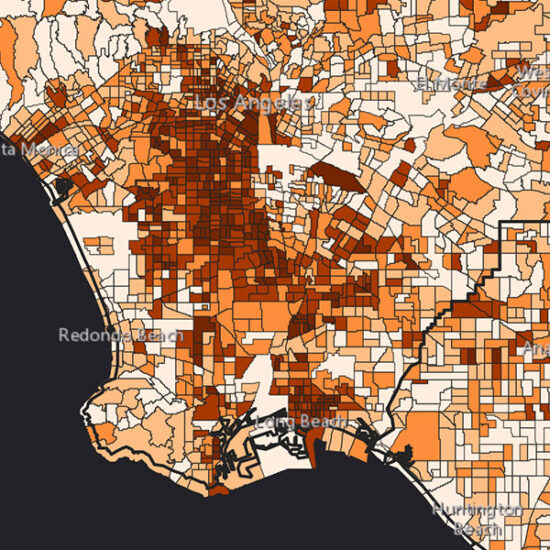 Screenshot of Mapping Black California Census Lab Project Map